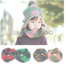 MOQ 1pcs  Children's collar warm wind Korean children's knitted wool scarf children collars Suitable for 2-6 years old