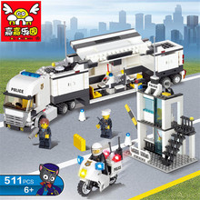 2018 New 511PCS Police Command Car Series Building Blocks Model Bricks Compatibl With High Quality Educational Toys Best Gift(China)