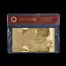 100 Euro Polymer Note 24k Pure Gold European Banknote New In PVC Holder With COA