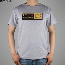 LOTUS RENAULT F1 T-shirt Fashion Brand t shirt men lycra cotton short sleeve