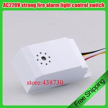 AC220V intelligent fire control sound and light control /strong fire alarm light control switch /energy saving lamp