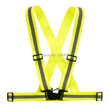 Reflective Safety Vest Strips for Construction Traffic Warehouse Visibility Security Jacket Reflective Strips Work Wear Uniforms(China)