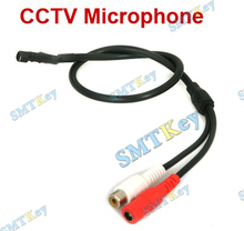 Mini Audio CCTV Microphone Mic RCA Output for CCTV Security System Camera DVR