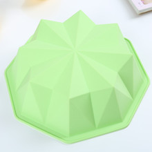 100% food grade Round Flower Cake Baking Silicone Mold Cake Decorating Dessert Pan Color Random