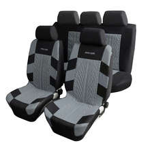Embroidery Car Seat Covers Set Universal Fit Most Cars Covers with Tire Track Detail Styling Car Seat Protector Free shipping(China)