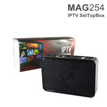 New Arrival Linux Operating system Mag254 Iptv Box STiH207 Set Top Box Mag 254 Media Player Better than Mag250 Iptv Box