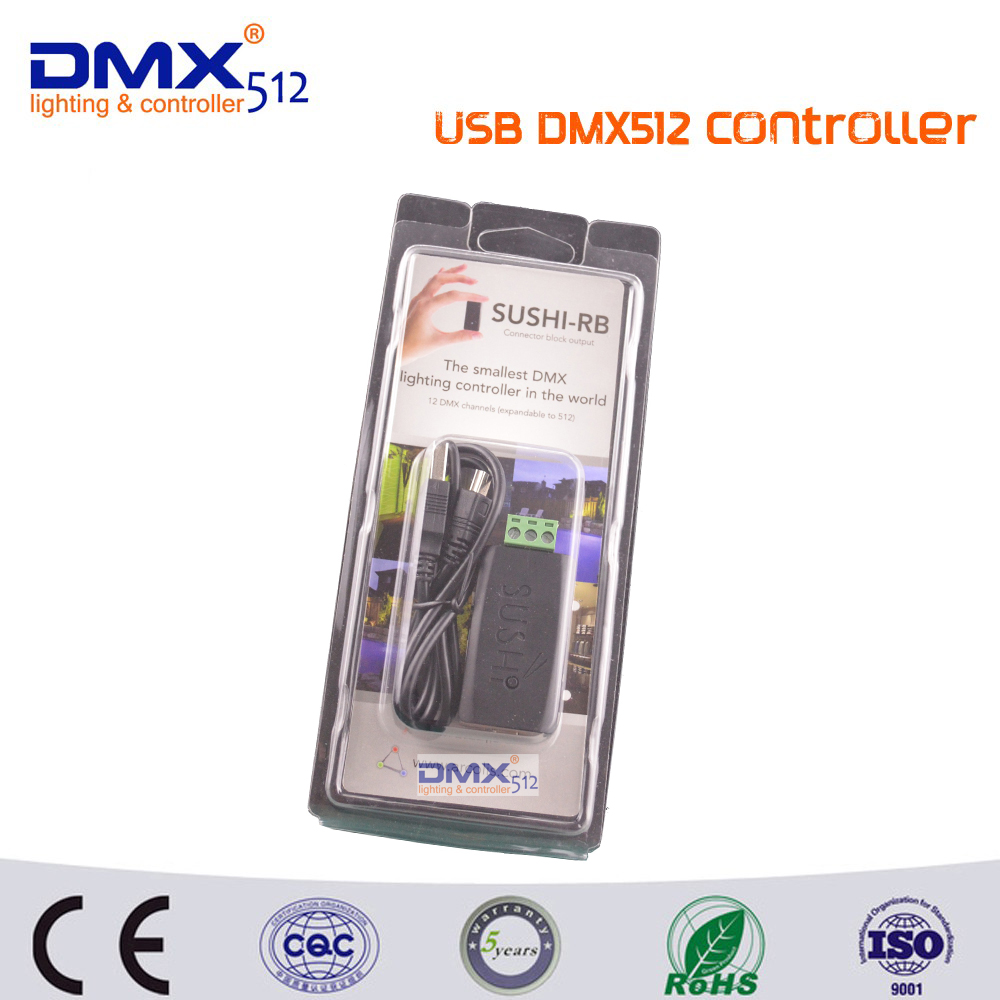 Free Shipping Professional LED Lighting USB to DMX Interface Adapter LED DMX512 Computer PC Stage Lighting Controller Dimmer<br>