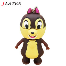JASTER 4GB 8GB 16GB 32GB lovely squirrel Pendriver USB Flash drive Memory thumb flash Drive Cartoon Squirrel cute