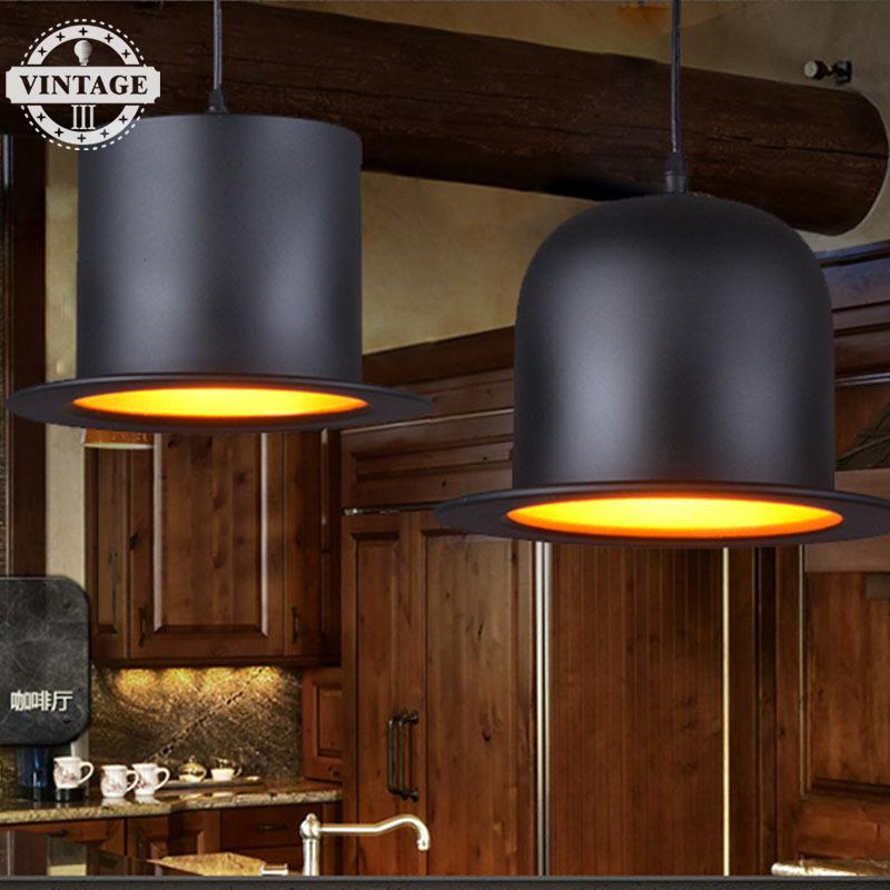 VintageIII Retro Rural Edison Loft Industrial  Hall Cap Style Restaurant Hat Wall Vintage Metal Reading Room  Chaplin Black Lamp<br>