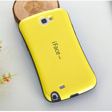 Note 2 Dropproof Phone case For Samsung galaxy Note 2 N7100 Case Shockproof Cover Anti-Knock Shell candy color iface