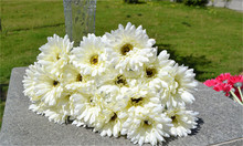 Gerbers African Daisy Flower 54cm/21.56 inches 100Pcs Fake Sunflower for Wedding Home Xmas Party Floral Decorative Flowers(China)