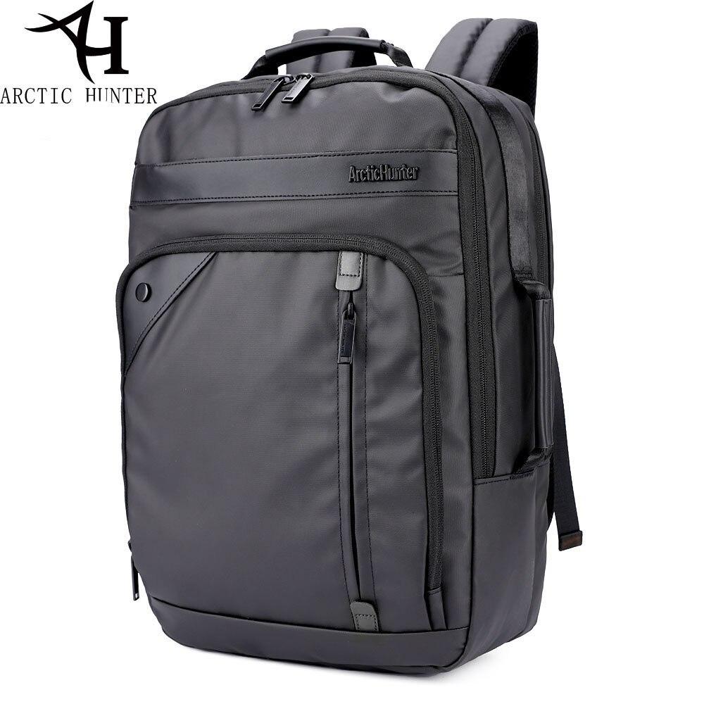 ARCTIC HUNTER 2017 new laptop backpack male casual business shoulder bag black Oxford cloth backpack<br>
