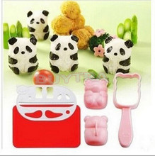 Punch Sushi Rice Ball Mold Onigiri Mould Nori DIY Maker Bento Tool Panda Shape Sushi Mold