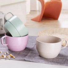 The green wheat straw milk cup contracted creative breakfast tea lovers drink a cup of coffee milk(China)