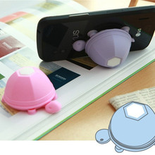 Cute Silicone Turtle Phone Holder Stand  for Iphone 6 6s 7 Plus for Samsung for Xiaomi Earphone Headphone Winder Cable
