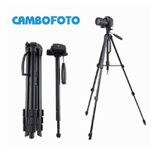 2017 New Arrival CAMBOFOTO Aluminium Tripod Monopod with Portable Carry Bag for Canon Nikon DSLR Camera Fluid head 5KG bear(China)