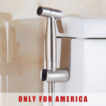 Free shipping Premium Stainless Steel Bathroom Handheld Bidet Shattaf Sprayer Transform Toilet into Spray Bidet only for America(China)