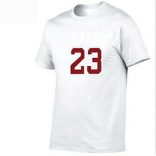 4180976a513 High Quality New Arrivals Michael Jordan 23 Men's T shirt Printed Casual  Digital Patchwork T-shirt Male Tees Tops Factory direct