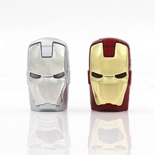 Iron Man forever led light pen drive usb flash drive 4gb 16gb 32gb 8gb memory card thumb 64GB external storage hero 32 gb(China)