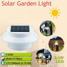 China Wholesale 5pcs Wall-mounted 3 LED Solar Power Fence Outdoor Gutter Garden Yard Lamp Sensor Light