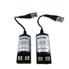 1Pair Passive UTP Video Balun Transceiver BNC Cat5 NVL-201 for CCTV Camera s723