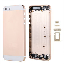 New for iPhone 5 5S for iPhone 6 Plus Alloy Metal Back Ream Housing Battery Cover with LOGO & Buttons&Sim Tray Free Tool