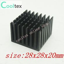 10pcs/lot 28x28x20mm  Aluminum Heatsink  for Chip CPU  GPU VGA  RAM  IC  LED  heat sink  radiator COOLER cooling