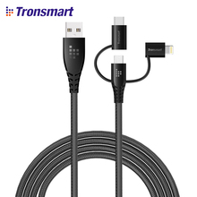 Tronsmart LAC10 MFi Micro Usb Cable Type C USB Cable 4ft/1.2m 3 1 iphone x/samsung galaxy s9/huawei/xiaomi Nylon