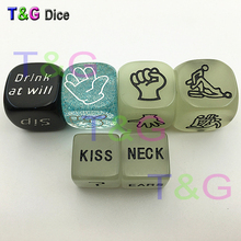 Full Game Sex Dice Set Drink Glow Erotic Craps Night Lights Love Sexy Funny Flirting Toys for Couples Game Sexy Dice(China)
