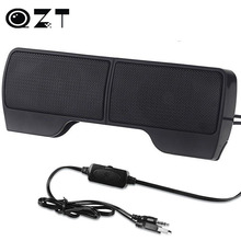 1 Pair High Quality Mini Portable Clipon Line Driver USB Stereo Speaker Sound Bar for Notebook PC Laptop Computer with Clip