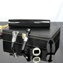 5 In1 Opener Set Electric Corkscrew/Cutters/Wine Pourer/Vacuum Wine  Plug/Intelligent Wine Temperature Table