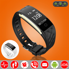 Buy Music Control Swim Smart Wristband Band Heart Rate Monitor Fitness Bracelet Tracker Pedometer Smartband Android iOS PK fitbits for $31.88 in AliExpress store
