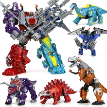 5 in 1 combination Anime Transformation toy Dragon Robot Brinquedos kid Action figures Classic Toys Boys Juguetes Children Gifts(China)