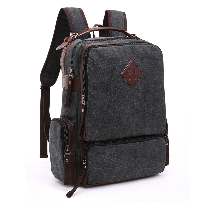 Rucksack Mens Canvas Backpack Leisure Travel Bag Vintage Rugzakken Fashion Morrales Mens Laptop Backpacks School Bags Bolsas<br>