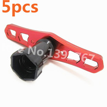 5Pcs RC HSP HPI Hobao TEAM C T8E 1/8 Scale Models 17MM Special Wheel Nuts Combiner Disassembly Tool Racing Remote Control Car(China)