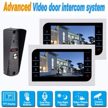 10 inch TFT Touch Key Color Video Intercom Door Phone Night Version Aluminum Alloy Shell Support Security CCTV Camera F1375D
