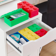 Hot Sale Multifunctional building blocks Multicolor can be stacked for storage box kitchen furniture and office stationery(China)