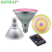 RAYWAY LED Spotlight RGB Bulb E27 Dimmable Magic stage Light 20W PAR 38 10W PAR30 Light Outdoor Flood Light With Remote Control(China)
