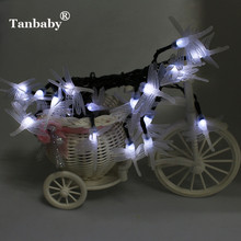 Tanbaby Solar Powered Outdoor String Lights Dragonfly 5M 20 Leds Starry Lighting christmas decorations for home Garden Light