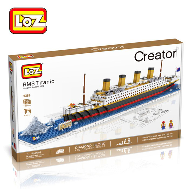 1860Pcs Titanic Ship 3D Building Blocks Toy Titanic Boat 3D Model Educational Gift Toy for Children Titanic Boat Model <br>