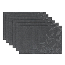 Placemats Set of 6 Washable Heat Insulation Non-slip Woven Place Mats for Kitchen and Dining Room Cup Wine Mat 45X30cm(China)