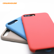 CRIAR HOUSE Candy Color Silicone Original Official Style Hard Leather Cover Case For Apple iPhone 7 8 iPhone7 iPhone8 Plus Capa