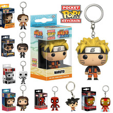 New Funko Pop Action Figure Key Ring Dragon Ball Naruto Wonder Woman Marvel Movie Character Pendant Pop Christmas gift