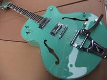 Wholesale  New GRETS CH 6120 Jazz electric guitar semi hollow with bigsby bridge chrome hardware In light green 101001