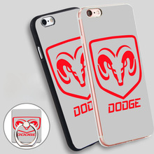 dodge logo Soft TPU Silicone Phone Case Cover for iPhone 4 4S 5C 5 SE 5S 6 6S 7 Plus