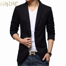 Men Blazer New Spring Fashion Brand High Quality Cotton Slim Fit Men Suit Terno Masculino Blazers Men