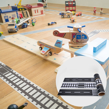 DIY Road Rail Belt Toy Design Track Scene Can Be Used With Car Car Train(China)