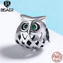 Buy BISAER Pure 925 Sterling Silver Cute Owl Openwork Clear CZ Animal Charms fit PAN Charm Bracelets DIY Fine Jewelry GXC424 for $6.64 in AliExpress store