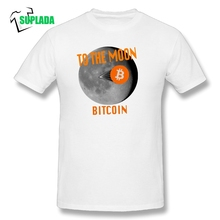 Buy Bitcoin Moon Landing Moon Funny Leisure 100% Cotton Round Neck Adult Short Sleeves T Shirt T-Shirt Tee Shirts Party for $9.90 in AliExpress store