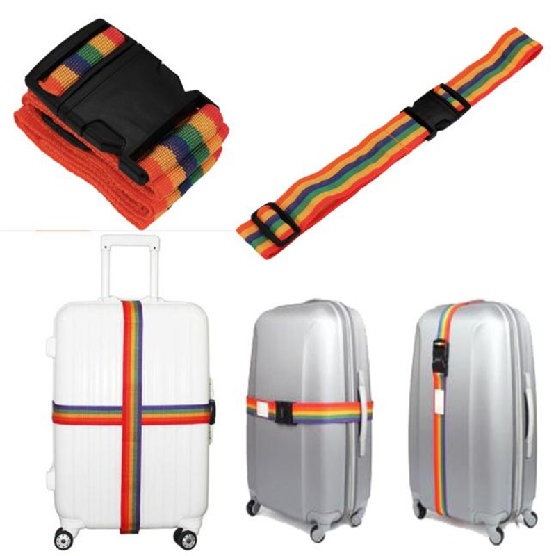 CONEED Suitcase-Straps Backpack Luggage Trolley Lashing Rainbow-Belt Adjustable Drop-Ship title=